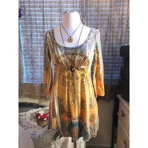 🌼 ANGL psychedelic hippie tunic dress 🌻
